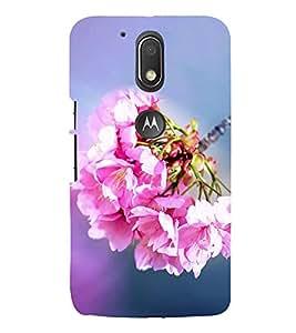 Bunch of Beautiful Pink Flowers 3D Hard Polycarbonate Designer Back Case Cover for Motorola Moto G4 Plus :: Moto G4+
