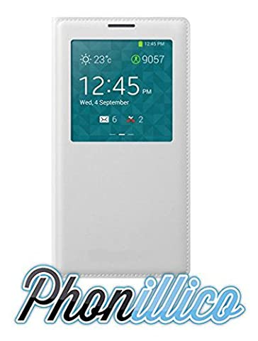 Etui Flip Cover Galaxy Note 3 - Phonillico® Coque Flip Cover S-View Blanc pour