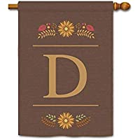 "Venkiszo Welcome Fall Monogram S Garden Flag Decorative by Colorful Leaves Custom Your Initial and Name Small Yard Banner for Outdoor 12.5""X18"" F38"