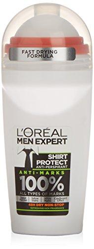 L 'Oreal Paris Men Expert Shirt Schutz 48H Anti-Transpirant Roll-On Deodorant 50ml