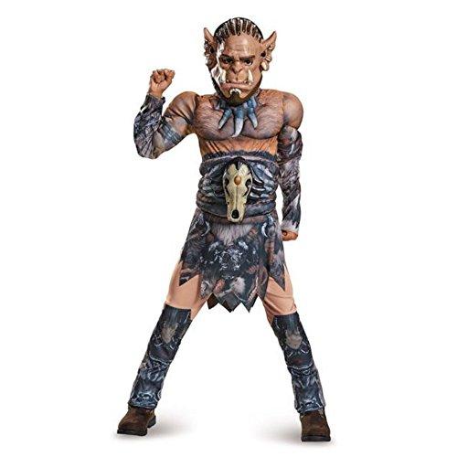 Durotan Warcraft Kinder Jungen Fasching Halloween Karneval Kostüm (Warcraft Kostüme)