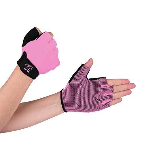 Material de calidad: 50 % SBR, 35 % poliéster, 10 % nailon y 5 % elastano.  Tabla de tallas de los guantes: Para el tamaño de los guantes, consulta la tabla de tallas en las fotos. Con el fin de seleccionar el tamaño adecuado del guante, por favor, m...