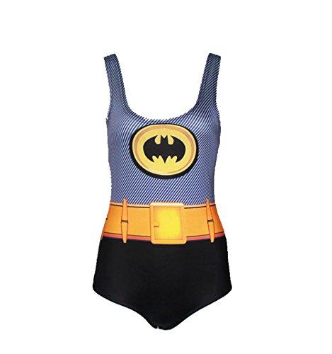 Waooh - Badeanzug Aus Einem Stück Gedruckt Batman Ayir - Gris-Jaune, (Batman Inspiriert Kostüm)