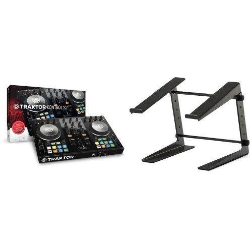 Native Instruments  Traktor Kontrol S2 MK2 + ah Stands SLT001E Laptopständer Bundle