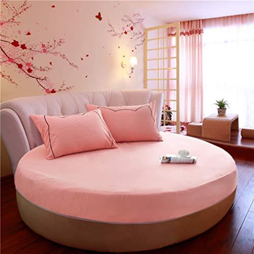 NIKIMI Runde Bettlaken Tagesdecke Baumwolle Bettdecke Matratze rutschfeste Schutzhülle - König Matratze Beschützer