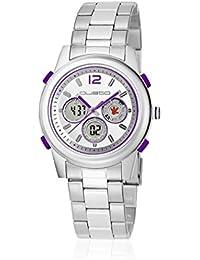 Custo CU053201 - Reloj con correa de piel para hombre, color plateado / gris