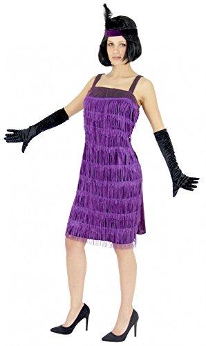 Jahre Charleston Kostüm in lila für Damen Gr. S - XXL, Größe:L (Lila Gangster Kostüm)
