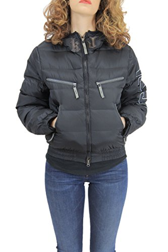 Kejo Ninja Vintage L.E. Women Goose Down Jacket Light Grey and Black (XXS, nero)