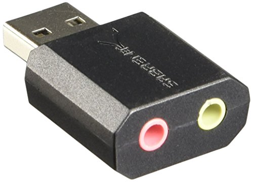 Sabrent USB Externe Soundkarte für Windows und Mac. External Sound Card Stereo Adapter for Windows und Mac. Plug and play. Keine Treiber erforderlich. (AU-MMSA)