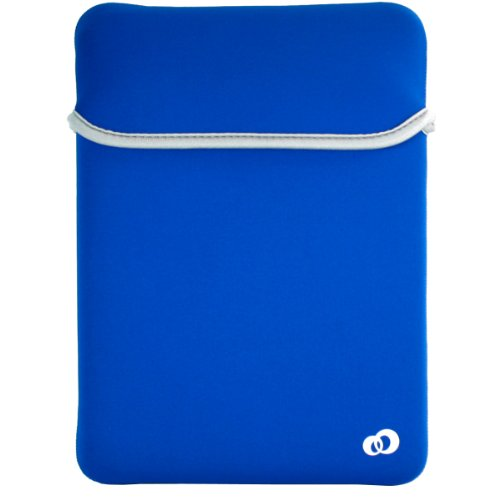 Kroo Reversable Sleeve für Mini-Notebook, 10 m, Blau/Grau -