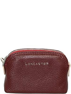 Lancaster - Porte-monnaie Lancaster en cuir ref_lan41897-bordeaux nr-11*8*3