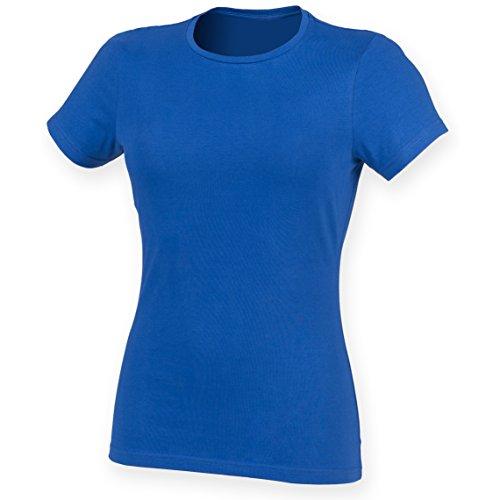 Skinni Fit Damen Feel Good Stretch T-Shirt, Kurzarm Königsblau