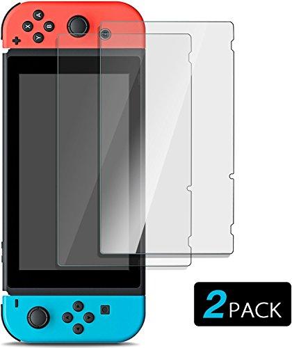 Nintendo Switch Protector de Pantalla [2-Unidades] BBM Cristal Templado Protector para Nintendo...
