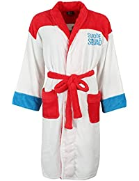 Ladies Suicide Squad Harley Quinn Daddy's Lil Monster Hoodless Bath Robe Gown