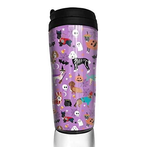 d, Hunde, Hundekostüme, Haustier, Rassen, Corgi, Doxie, Labrador, Pudel_19223 Kaffeetasse, 340 ml, auslaufsicher, Klappdeckel Wasserflasche, umweltfreundliches Material ABS ()