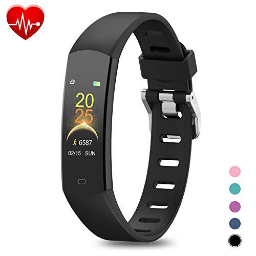 BingoFit Kids Fitness Tracker, Slim Sports Activity Tracker with Heart Rate Monitor Waterproof Pedometer Watch with…