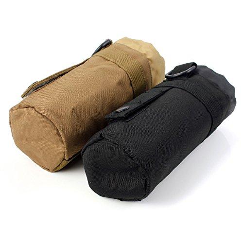 Im Freien taktisches Milit_r Camping Wandern Tasche Wasserflasche Bag Kettle Pouch Khaki