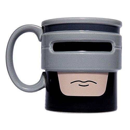 Thumbsup 1225 Robocup Mug Céramique Noir Gris