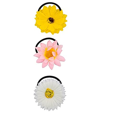 Lux Accessoires Tournesol Floral Fleur élastique de cheveux Chouchou Chouchou