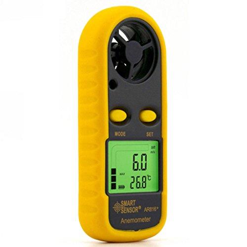 Windmesser Anemometer, Wettermonitore, Meter Luftstrom, Luftqualität, Mini Anemometer Wind Temperatur Meter