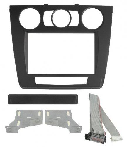 Phonocar 03670 Mascherina Cornice Autoradio 2 DIN Nero con climatizzatore manuale Compatibile con BMW 1 (E87) 0711 s.1 (E81) '07'12 s.1 (E82) '07'13