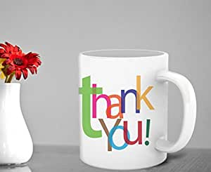 TIED RIBBONS Thank You Coffee Mug for Family and Friends, 325 ml, White