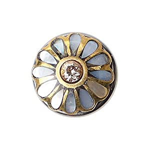 Noosa Petite Chunk 32.03 kiku-shell/citrine stone-brass