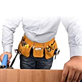 LYY Cuoio Elettricista Usura-Resistente Anti-Cut Vita Bag Costruzione Costruzione Decorazione Piccolo Lavoro casa di assicurazione Kit