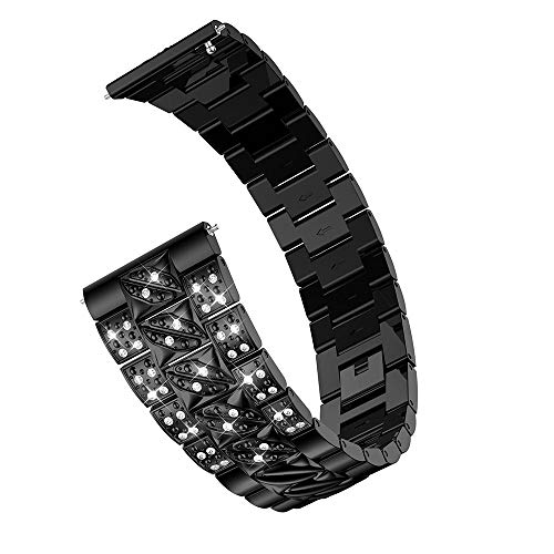 Preisvergleich Produktbild TianranRT Ersatz Metall Kristall Uhr Gurt Handgelenk Band Armband für Samsung Galaxy Watch (46mm)