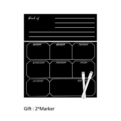 XM&ZF Magnetisches Trocknen sie Erase Kalender Board,Nachricht Tafel Tafel Wandaufkleber Familie Hinweis Wöchentliche Veranstalter Planer Memo-Boards Für kühlschrank Küche-D