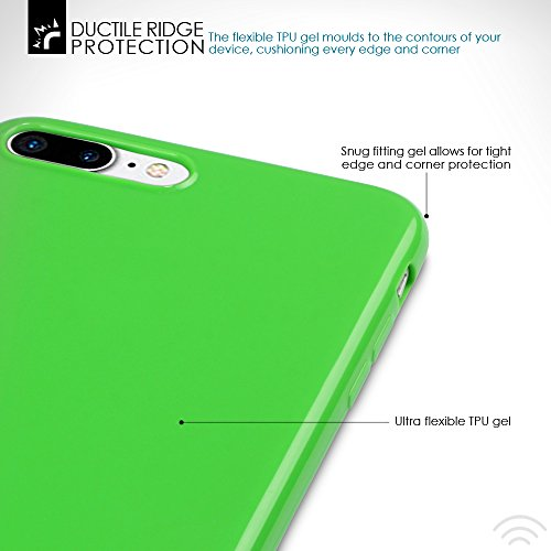 iPhone 8 Plus / iPhone 7 Plus Cover, Terrapin TPU Schutzhülle Tasche Case Cover für iPhone 8 Plus / iPhone 7 Plus Hülle Lila Grün