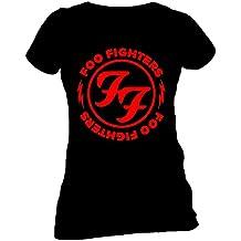 FOO FIGHTERS Red Circle Skinny Damen T-Shirt Offizielles Lizenzprodukt