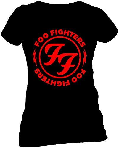 FOO FIGHTERS Red Circle Skinny Damen T-Shirt Offizielles Lizenzprodukt|M -