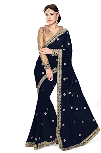 Indian Sari Kleid mit Ungesteckt Oberteil/Top Mirchi Fashion Damen Sarees