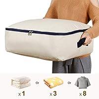 Lifewit Sac de Rangement Housse en Tissu Pliable Taille Ultra pour Literie Couette Couverture Oreiller Vêtements (50L)