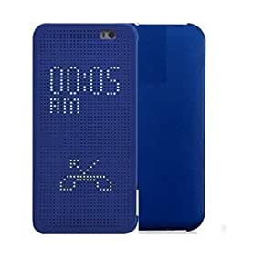 ECellStreet Exclusive Dot View Touch Sense Flip Cover Diary Folio Case for HTC Desire 820 / Desire 820Q- Imperial Blue