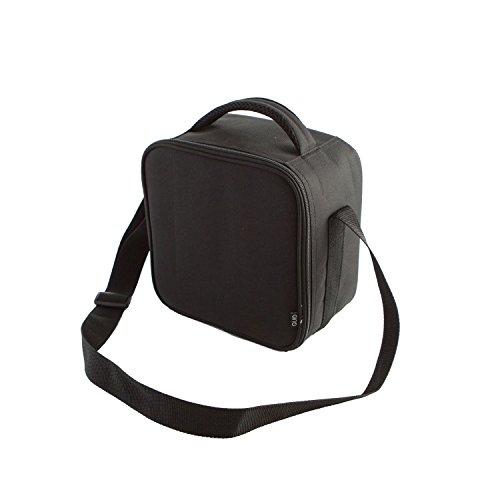 Quid - go lunch, borsa termica porta-pranzo, incl. 2 contenitori, 22 x 13 x 22 cm, colore: nero