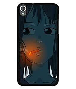 PrintVisa Animated Jungle Boy With Cigarette High Gloss Designer Back Case Cover for HTC Desire 820 :: HTC Desire 820 Dual Sim :: HTC Desire 820S Dual Sim :: HTC Desire 820Q Dual Sim :: HTC Desire 820G+ Dual Sim