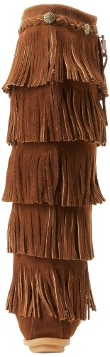 Minnetonka Damen 5-Layer Fringe Stiefel Braun (Dusty BrownDusty Brown)