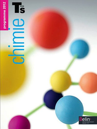 Chimie Tle S : Programme 2012