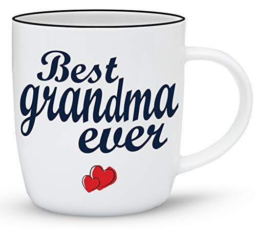 Gifffted Tazza da Caffè per Nonna, Regalo di Compleanno per Nonna, Idee Regali Anniversario, Festa Della Mamma e Natale, Ceramica, 380 ml