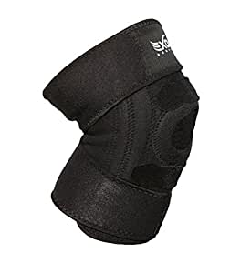 EXOUS Bodygear EX-701 Performance Knee Support Brace With Lateral Stabilisers anti-slip design - Enhanced Comfort Helps With Patella Issues LCL/MCL Ligament Problems