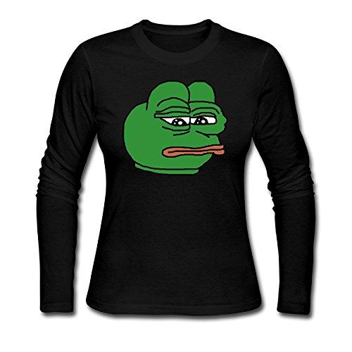 xj-cool-triste-rana-mujer-custom-camisetas-color-negro