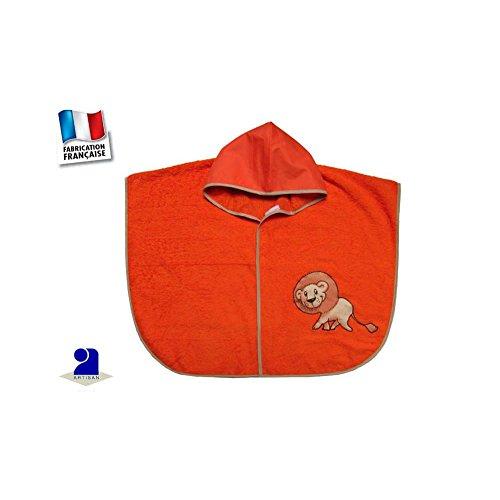 Poussin bleu - Poncho de bain bébé, orange, lion Couleur - Orange, Taille cc88cbabc5f