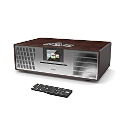Majority Willingham DAB/DAB+ Digital FM Radio - Bluetooth Wireless - CD Player - Hi-Fi Speaker System - Remote Control – AUX-In & USB MP3 Play – Colour Screen (Walnut)