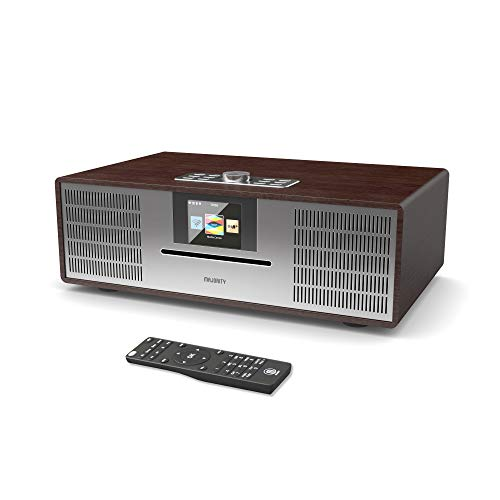 MAJORITY Willingham DAB/DAB+/UKW Digital-Radio - 30W CD Player - Hi-Fi Lautsprechersystem - Fernbedienung - AUX in und USB MP3 Wiedergabe - Farbdisplay (Nussbaum)