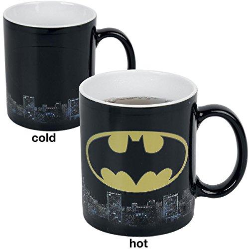 Dc comics gb eye ltd, batman logo, tazza magica che cambia de colore