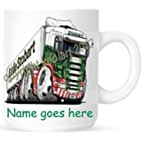 Personalised 100% Unofficial Product Koolart Eddie Stobart temperature controlled distribution 3192 image printed ceramic mug