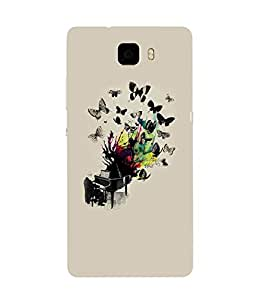 Butterflies Piano Huawei Honor 7 Case