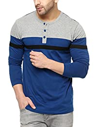 GRITSTONES Men's Cotton Stylish Full Sleeve Henley T-Shirt
